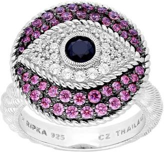 Judith Ripka Sterling Silver Evil Eye Diamonique Ring