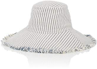 Barneys New York WOMEN'S WIDE-BRIM STRIPED COTTON SUN HAT