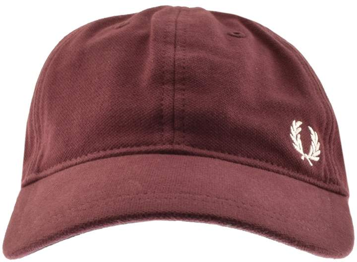 Fred Perry Pique Constructed Baseball Cap Burgundy
