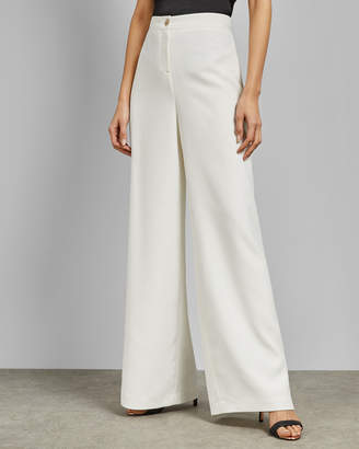Ted Baker DARLINT Ivory wide leg trousers