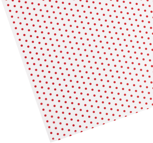 Container Store Red Polka Dot Waxed Tissue
