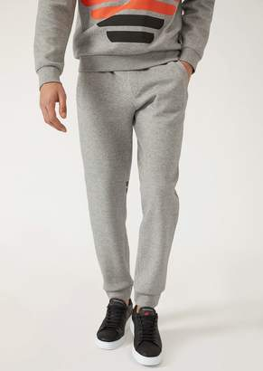 Emporio Armani Fleece Joggers With Logo Print On The Back