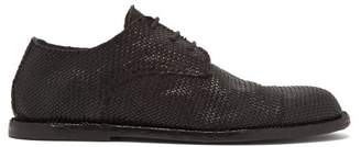 Ann Demeulemeester Woven Leather Derby Shoes - Mens - Black