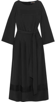 Vanessa Seward émotion Lace-trimmed Silk Maxi Dress - Black
