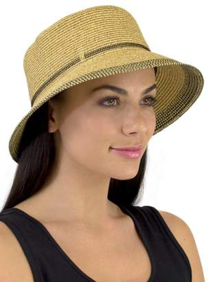 Jendi Gold Lurex Cloche Hat