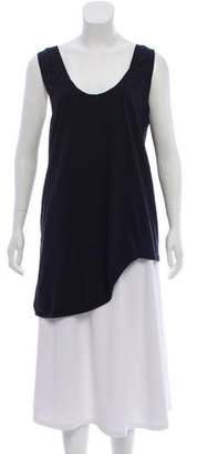 Bassike Asymmetrical Sleeveless Top