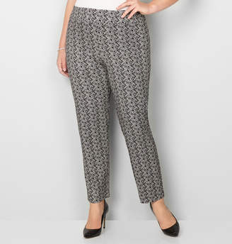 Avenue Floral Super Stretch Pull-On Pant with Tummy Control