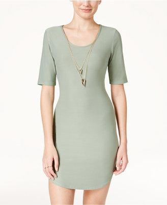 Planet Gold Juniors' Necklace Bodycon Dress $39 thestylecure.com