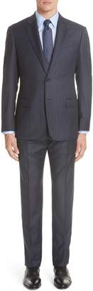 Emporio Armani G-Line Trim Fit Stripe Wool Suit