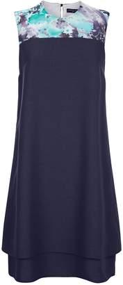 Next Womens HotSquash Navy Chiffon Double Layered Dress