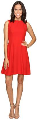 Christin Michaels Keira Fit and Flare Dress with Whipstitch Detail Women's Dress