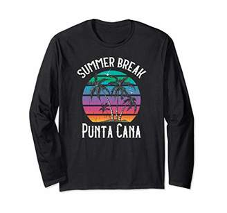 Summer Break Punta Cana Tropical Gift Long Sleeve T-Shirt