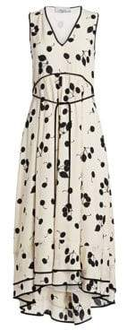 3.1 Phillip Lim Cherry Print Sleeveless A-Line Maxi Dress