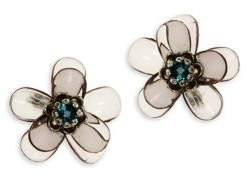 Jenny Packham Crystal Flower Stud Earrings