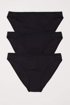 H&M 3-pack Cotton Bikini Briefs - Black