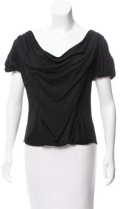 Mayle Silk Cold-Shoulder Top