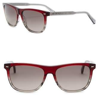 Ermenegildo Zegna Uomo Square 57mm Acetate Frame Sunglasses