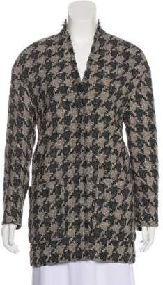 Isabel Marant Wool-Blend Knit Cardigan Grey Wool-Blend Knit Cardigan