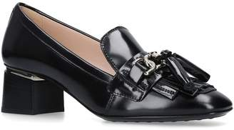 Tod's Leather Loafer Pumps