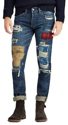 Polo Ralph Lauren Sullivan Distressed Slim Fit Jeans in Blue