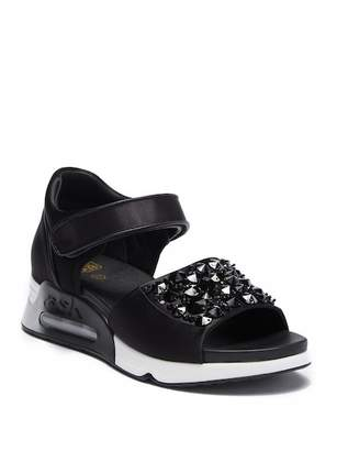 Ash Lotus Studded Wedge Sandal