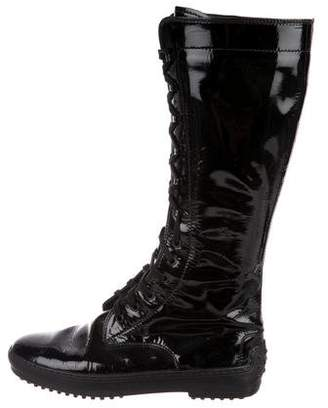 Tod's Patent Leather Knee-High Boots