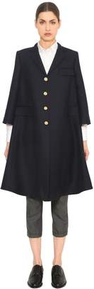 Thom Browne Double Breasted Wool Trench Coat