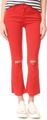 MOTHER Insider Crop Fray Jeans $208 thestylecure.com