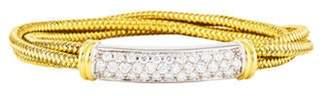 Roberto Coin 18K Primavera 1.53ctw Diamond Bar Bracelet yellow 18K Primavera 1.53ctw Diamond Bar Bracelet