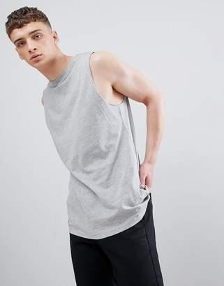 New Look Sleeveless T-Shirt In Grey