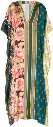 Oscar de la Renta Oversized Printed Silk Caftan