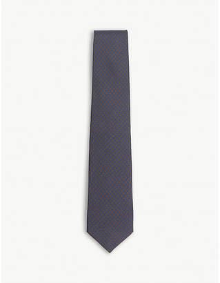 HOLIDAY & BROWN Paisley micro print silk tie