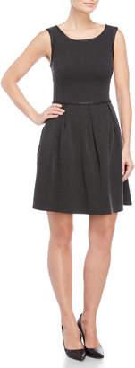 Max Studio Dot Pattern Sleeveless Dress