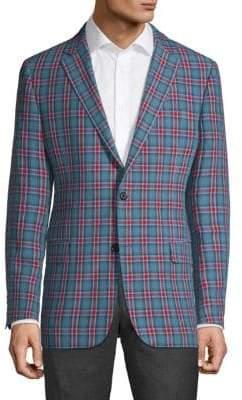 Hickey Freeman Millburn II Bright Plaid Sport Jacket