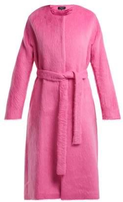 Rochas - Angel Single Breasted Wool Blend Coat - Womens - Pink