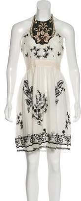 Anna Sui Embroidered Knee-Length Dress