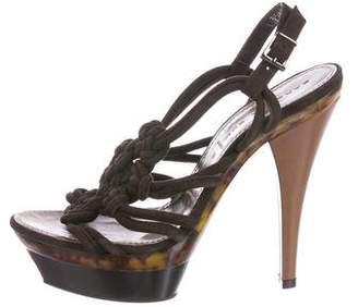 Barbara Bui Suede Platform Sandals