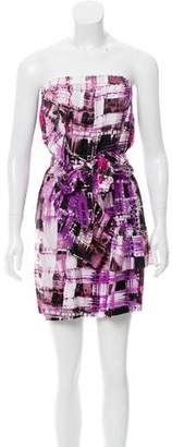Ali Ro Printed Silk Dress w/ Tags
