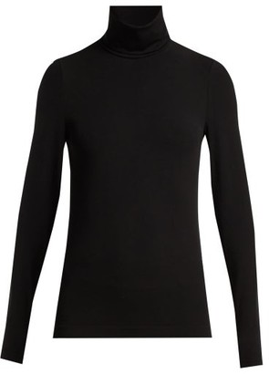 Wolford Aurora Roll Neck Jersey Top - Womens - Black