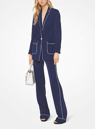 Michael Kors Twill Piped Blazer
