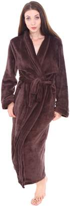Simplicity Women Men's Long Sleeve Bathrobe w/ Tie Closure and Pockets