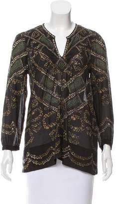 Etoile Isabel Marant Printed Long Sleeve Blouse