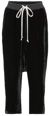 Rick Owens Cropped velvet sweatpants