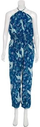 Calypso Silk Sleeveless Jumpsuit
