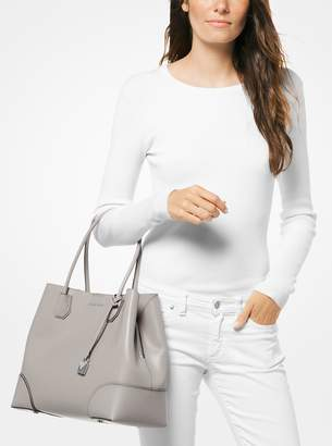 MICHAEL Michael Kors Mercer Gallery Large Pebbled Leather Satchel