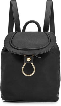 Diane von Furstenberg Satin Backpack with Leather