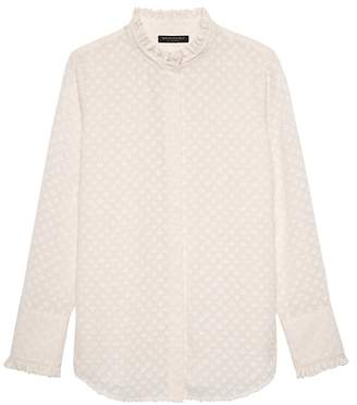 Banana Republic Dillon Classic-Fit Semi-Sheer Ruffle Shirt