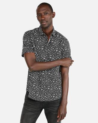 Express Classic Floral Short Sleeve Shirt