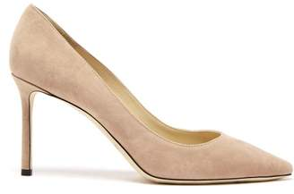 Jimmy Choo Romy 85 Suede Pumps - Womens - Nude