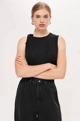 Topshop **Tie Shoulder Tank Top by Boutique